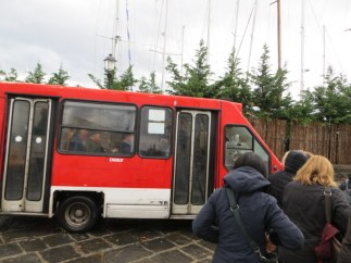 There is a small network of tiny buses criss-crossing the island serving residents and visitors alike.