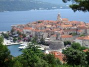 During our tour of the island, we had a chance to see Korčula from on high.