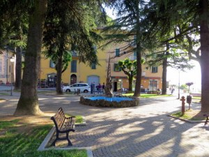 Piazza in Montese, in front of the Hotel Belvedere.