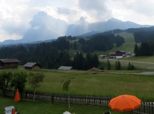 Our view while gorging on strudel at Hotel Saltria.