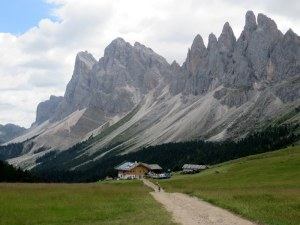 Little Rifugio Malga Brogules, beneath the Seceda Plateau.