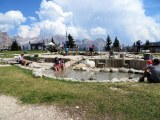 This is the pl;ay area/wading pool at a rifugio.