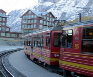 Jungfraujoch Railroad - our train ready to depart.