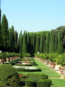 Formal gardens, Lazio Albano, the Papal Gardens