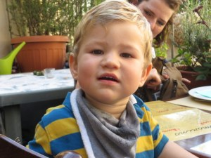 Isaac, our dining partner at Rosmarino.