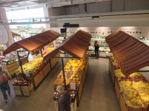 The produce area is almost unreal in its beauty and bounty. All Italian in season, of course.
