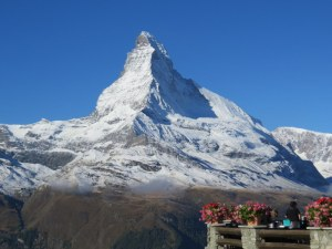 Postcard view. The Matterhorn remained cloud free all day.