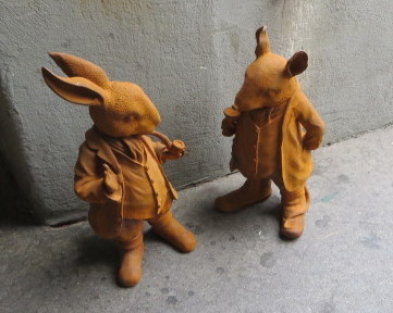Terra cotta bunnies, Bern, Switzerland.