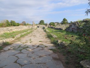 Old Roman road to the sea, which was once much closer.