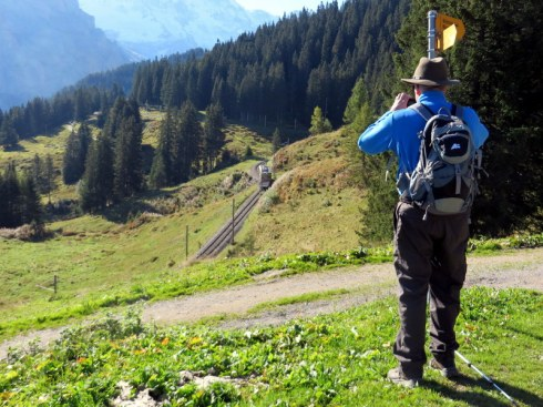 We love this hike from Grutschalp to Muerren along the narrow gauge rail line.