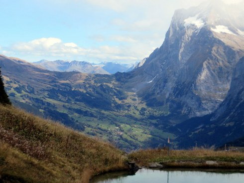 Another favorite hike is from Mannlichen to Kleine Scheidegg. This is a view toward Grindelwald in the valley.