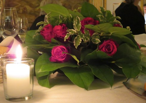 Elegant tablesetting at the Hassler.