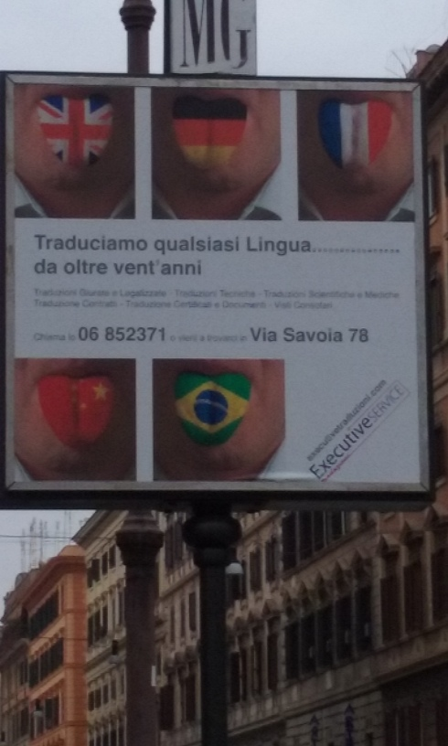 "Gives new meaning to multilingual. The Italian word ""lingua"" means tongue."