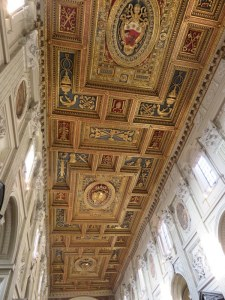 Renaissance ceiling of the basilica. Stunning!