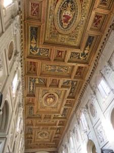 Renaissance ceiling of the basilica. Stunning!