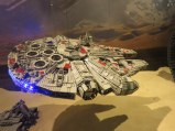 Millenium Falcon model at Galleries La Fayette.