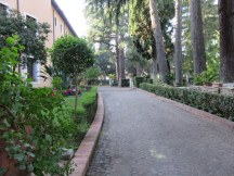 The peaceful garden at Santo Stefano. Off limits to the likes of us.