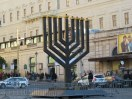 Giant Menorah in Piazza Barberini.