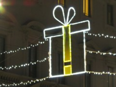 "Milano has a theme called ""Yellow Christmas"" near Porta Venezia. Un po' strano."