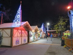 Children's Christmas village in Milano near Porta Venezia.