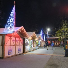 Children's Christmas village in Milano near Porta Venezia.