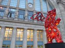 Gare du Nord, station for the EuroStar. Love the bear!