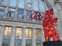 Gare du Nord, station for the EuroStar. Love the bear!