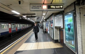 London Tube station. Excellent signage, lighting, acoustics. Far from Rome.