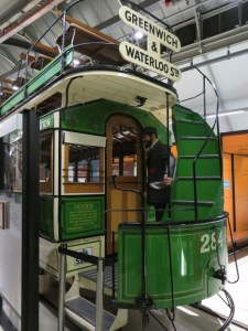 London Transportation Museum: Old-style bus.