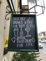 Love this sign in Burford!