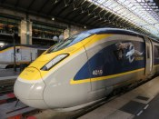 Our Eurostar train from Paris to London.