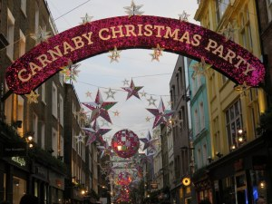 Carnaby was well decorated for the holiday.