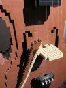 Detail of the bass -- it is indeed all from Legos.