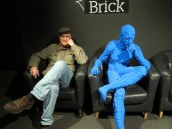 Ric and the Blue Man.