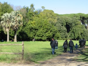One of the busier paths, Villa Ada. We stuck to the woodsy ones, while most of the Italians embraced the sun.