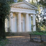 "Tempietto, Villa Ada. The ""little temple"" was often a feature in the garden of a great house. This one was probably once associated with the palazzo that is now the Egyptian Embassy."