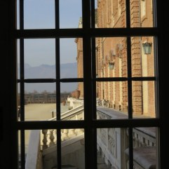 La Venaria Reale - view from the main palazzo toward the mountains.