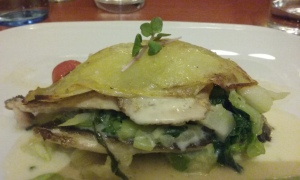 Lovely fish and vegetable dish at El Hans. Delectible and pretty.