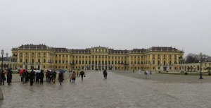 The Schoenbrunn Palace of 1441 rooms rivals Versailles. It dates to the 16th century when it was, of course, built as a hunting lodge. Inside is 18th century Rococo.