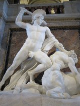 "Canova's fabulous ""Theseus Defeats the Centaur"" at the Kunsthistorisches."