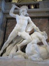 "Canova's fabulous ""Theseus Defeats the Centaur"" at the Kunsthistorisches."