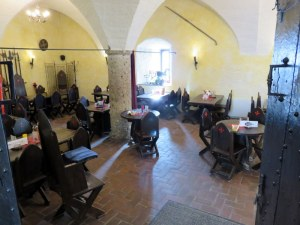 Cute little cafe at the Hohensalzburg Fortress. No plasticware and paper plates.