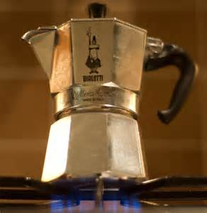 The Moka pot, Italian stallwart of the AM, must actually fit on the burner to work.