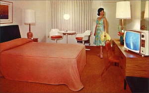Remember the elegance of a 1950s motel room? Many B&Bs in Europe have about as many electrical receptacles.