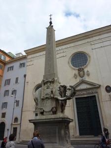 Bernini's elephant obelisk, Santa Maria Sopra Minerva.