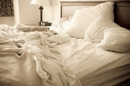 Believe-it-ot-not, we actually make our bed wherever we are staying, but I do not hink I should have to wash the linens.