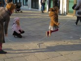 The campi (Venetian for piazzas) are playgrounds.