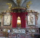 When you go back to a place during a different time of year, you see different things. In the Frari Church a relic was displayed in this Baroque altar that is only open during Holy Week. It is said to be the blood of Christ.