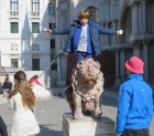 Riding the Lion of Venice.