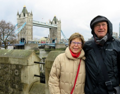It was cold that day we visited the Tower of London and Tower Bridge!